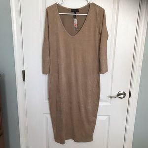 NWT Forever 21 Faux Suede Soft Dress large